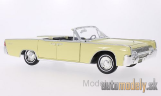 Lucky Die Cast - Lincoln Continental 4-Door Convertible, light yellow, Sofftop lays by, 1961 - 1:18