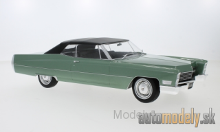 KK-Scale - Cadillac DeVille Convertible, metallic-hellgrün/black, with Softtop, 1968 - 1:18