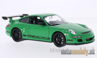 Welly - Porsche 911 GT3 RS (997), grün/Decorated - 1:24