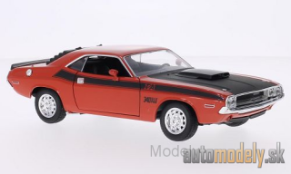 Welly - Dodge Challenger T/A, dark orange/matt-black, 1970 - 1:24