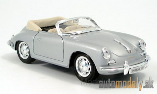Welly - Porsche 356 B Convertible, silver - 1:24
