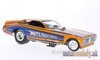 ERTL American Muscle - Dodge Charger Funny Car, White Bear, NHRA, J.Perkl, 1971 - 1:18