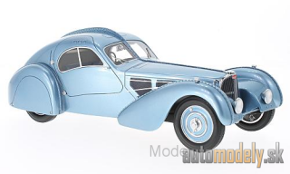 BoS-Models - Bugatti T57 SC Atlantic, metallic-light blue, RHD, 1938 - 1:18