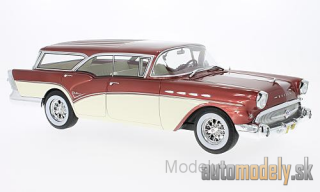 BoS-Models - Buick Century Caballero Estate, metallic-rot/light beige, without showcase, 1957 - 1:18