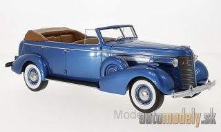 BoS-Models - Buick Roadmaster 80-C Four-Door Phaeton, metallic-blue, 1937 - 1:18