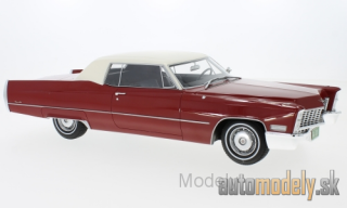 BoS-Models - Cadillac DeVille Coupe, red/white, 1967 - 1:18