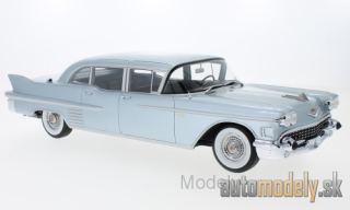BoS-Models - Cadillac Fleetwood 75 Limousine, metallic-light blue, 1958 - 1:18
