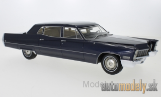 BoS-Models - Cadillac Fleetwood series 75 Limousine, metallic-dark blue, 1967 - 1:18