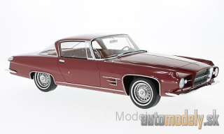 BoS-Models - Chrysler Dual Ghia L 6.4 Coupe, metallic-dark red, without showcase, 1960 - 1:18