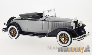 BoS-Models - Dodge Eight DG Convertible, grey/dark blue, 1931 - 1:18