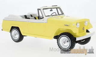 BoS-Models - Jeep Jeepster Commando Convertible, yellow/white, 1970 - 1:18
