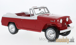 BoS-Models - Jeep Jeepster Commando Convertible, red/white, 1970 - 1:18