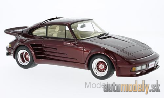 BoS-Models - Porsche 911 Turbo Gemballa Avalanche, metallic-dark red, 1986 - 1:18