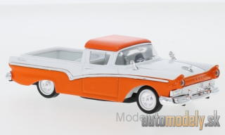Lucky Die Cast - Ford Ranchero, orange/white, 1957 - 1:43