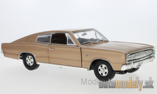 Lucky Die Cast - Dodge Charger, metallic-dunkelbeige, 1966 - 1:18