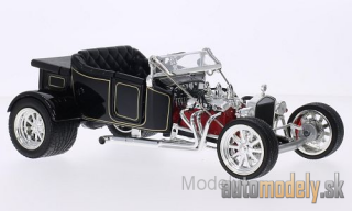 Lucky Die Cast - Ford T-Bucket, black/Decorated, canopy geöffnet, 1923 - 1:18