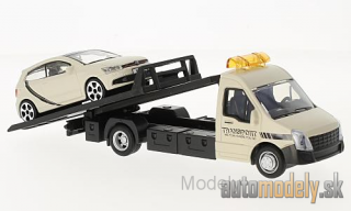 Bburago - Iveco Daily transport, with VW Polo V GTI - 1:43