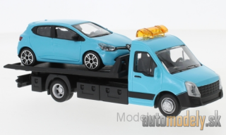 Bburago - Iveco Daily transport, with Renault Clio - 1:43
