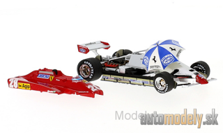 Brumm - Ferrari 126 C2 Turbo, No.28, formula 1, GP San Marino, with Rennfahrer and Schirm, D.Pironi, 1982 - 1:43