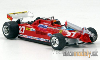 Brumm - Ferrari 126 CK Turbo, No.27, scuderia Ferrari, formula 1, GP Canada, with figure of driver, round 55-56, G.Villeneuve, 1981 - 1:43