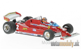 Brumm - Ferrari 126C Turbo, No.2, scuderia Ferrari, formula 1, GP Italy, with figure of driver, G.Villeneuve, 1980 - 1:43