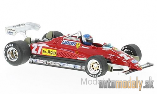 Brumm - Ferrari 126C2 Turbo, No.27, formula 1, GP Italy, with figure of driver, P.Tambay, 1982 - 1:43