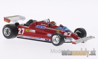 Brumm - Ferrari 126CK Turbo, No.27, scuderia Ferrari, formula 1, GP Italy, with figure of driver, G.Villeneuve, 1981 - 1:43