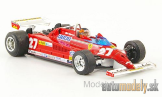 Brumm - Ferrari 126CK Turbo, No.27, Suderia Ferrari, formula 1, GP Monte Carlo, with figure of driver, G.Villeneuve, 1981 - 1:43