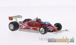 Brumm - Ferrari 312 T4, No.12, scuderia Ferrari, formula 1, GP USA West, with figure of driver, G.Villeneuve, 1979 - 1:43