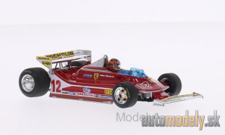 Brumm - Ferrari 312 T4, No.12, scuderia Ferrari, formula 1, GP USA West, Testcar with figure of driver and geändertem Heckspoilersetup, G.Villeneuve, 1979 - 1:43