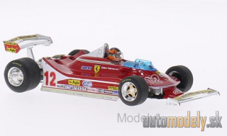 Brumm - Ferrari 312 T4, No.12, scuderia Ferrari, GP Netherlands, with figure, G.Villeneuve, 1979 - 1:43