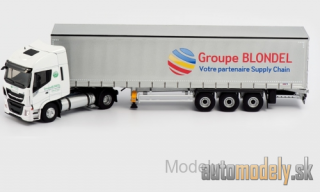 Eligor - Iveco Stralis NP, Groupe Blondel, curtain side-trailer truck - 1:43
