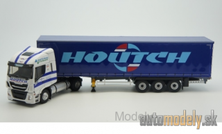 Eligor - Iveco Stralis NP, Transports Houtch, curtain covers truck - 1:43