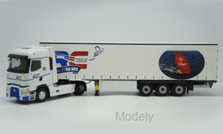 Eligor - Renault T520 High, Rouille Coulon - 60 ans, curtain covers truck - 1:43