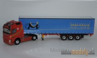 Eligor - Volvo FH 4 GL 500, Transports Malvaux, curtain covers truck - 1:43