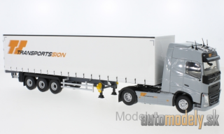Eligor - Volvo FH 4 Globetrotter, Transports Sion, curtain side-trailer truck - 1:43
