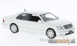First:43 - Toyota Celsior, metallic-white, RHD, 2001 - 1:43