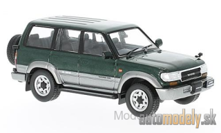 First:43 - Toyota Land Cruiser LC80, metallic-dunkelgrün/silver, RHD, 1992 - 1:43
