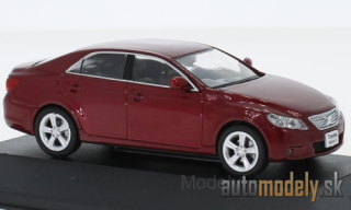 First:43 - Toyota Mark-X, metallic-dark red, RHD, 2012 - 1:43