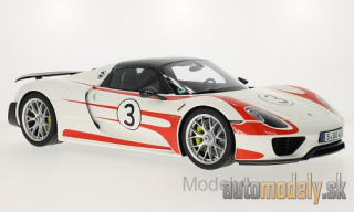 GT Spirit - Porsche 918 Spyder, white/Decorated, whiteach Package - 1:12