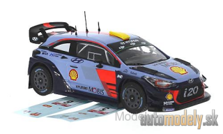 IXO - Hyundai i20 Coupe WRC, Rallye WM, Rallye Wales, with Two decal sets for number 5 And 6, A.Mikkelsen/A.Jäger/T.Neuville/N.Gilsoul, 2017 - 1:43