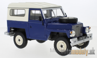 BoS-Models - Land Rover Lightweight series III, dark blue, RHD, Hard Top, 1973 - 1:18