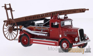 Lucky Die Cast - Dennis Light Four, RHD, Oakham & Uppingham Districts Joint Fire Briga, 1938 - 1:43
