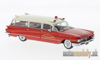 NEO - Buick Flxible Premier, red/white, Ambulance, 1960 - 1:43