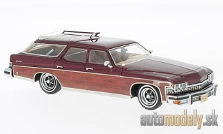 NEO - Buick Le Sabre Estate Wagon, metallic-dunkelrot/wood optics, 1974 - 1:43