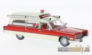 NEO - Cadillac S & S Ambulance, red/white, 1966 - 1:43