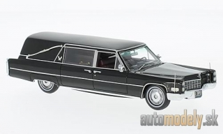 NEO - Cadillac S&S Landau Hearse, black, Funeral vehicle - 1:43