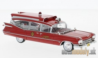 NEO - Cadillac S&S Superior Ambulance, red, 1959 - 1:43