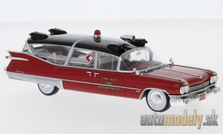 NEO - Cadillac Superior Ambulance, red, Chicago Fire Department, 1959 - 1:43