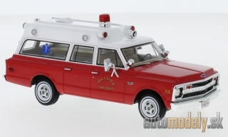 NEO - Chevrolet Suburban Ambulance, red/white, Hillside Fire Department, 1970 - 1:43